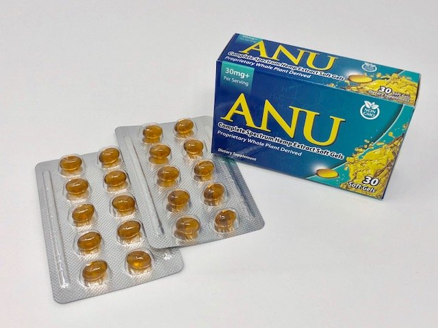 ANU Full Spectrum CBD Capsules 30mg 30 Pack | CBD Warehouse USA